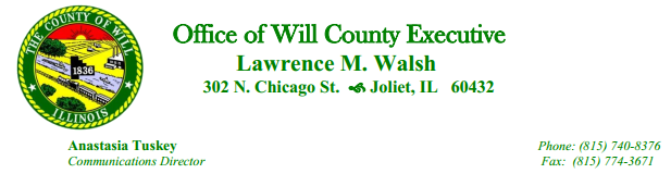 Will County Exec Letterhead - A. Tuskey