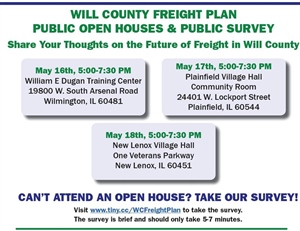 Will County Freight Plan: Public Open Houses & Public Survey