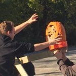 Catapult jack-o-lanterns, shred documents  at joint Will County, Lewis University event