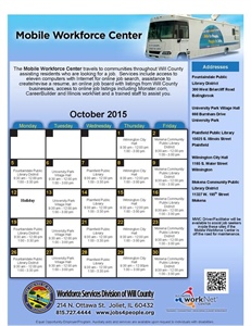 Mobile Workforce Center's October schedule announced