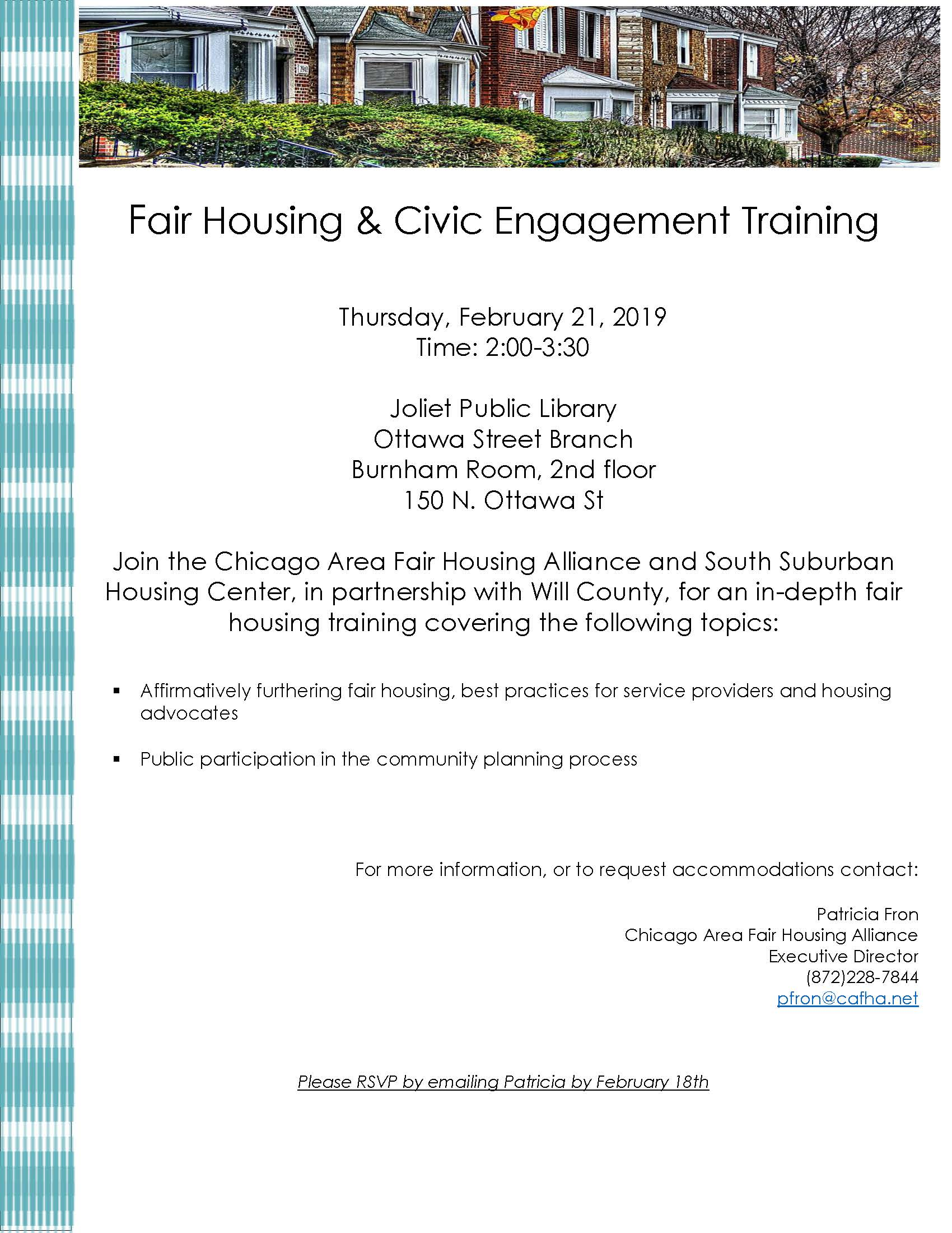 Fair Housing & Civic Engagement Training Flyer