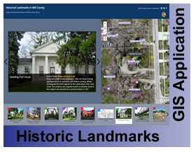 Historical Landmark GIS Application Viewer