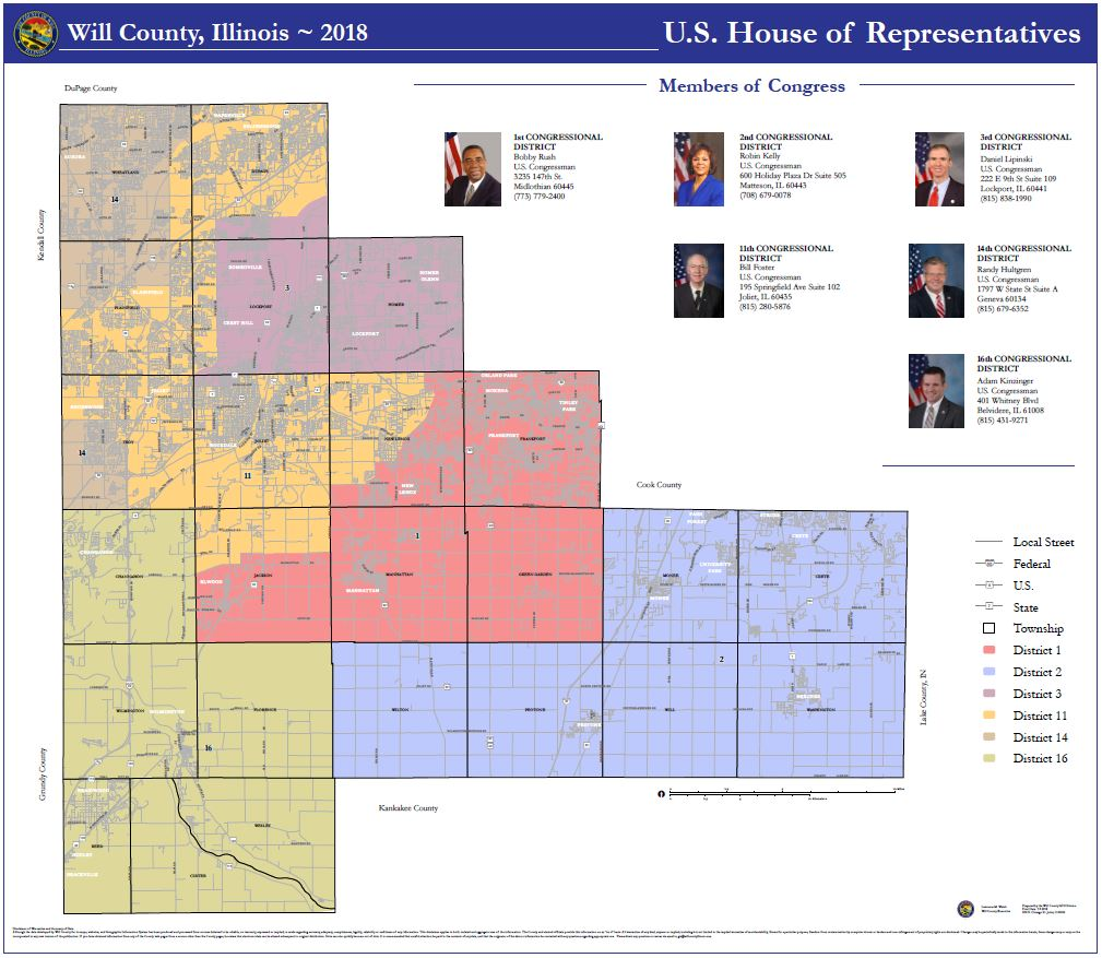 Will County Illinois U.S. House of Representatives map