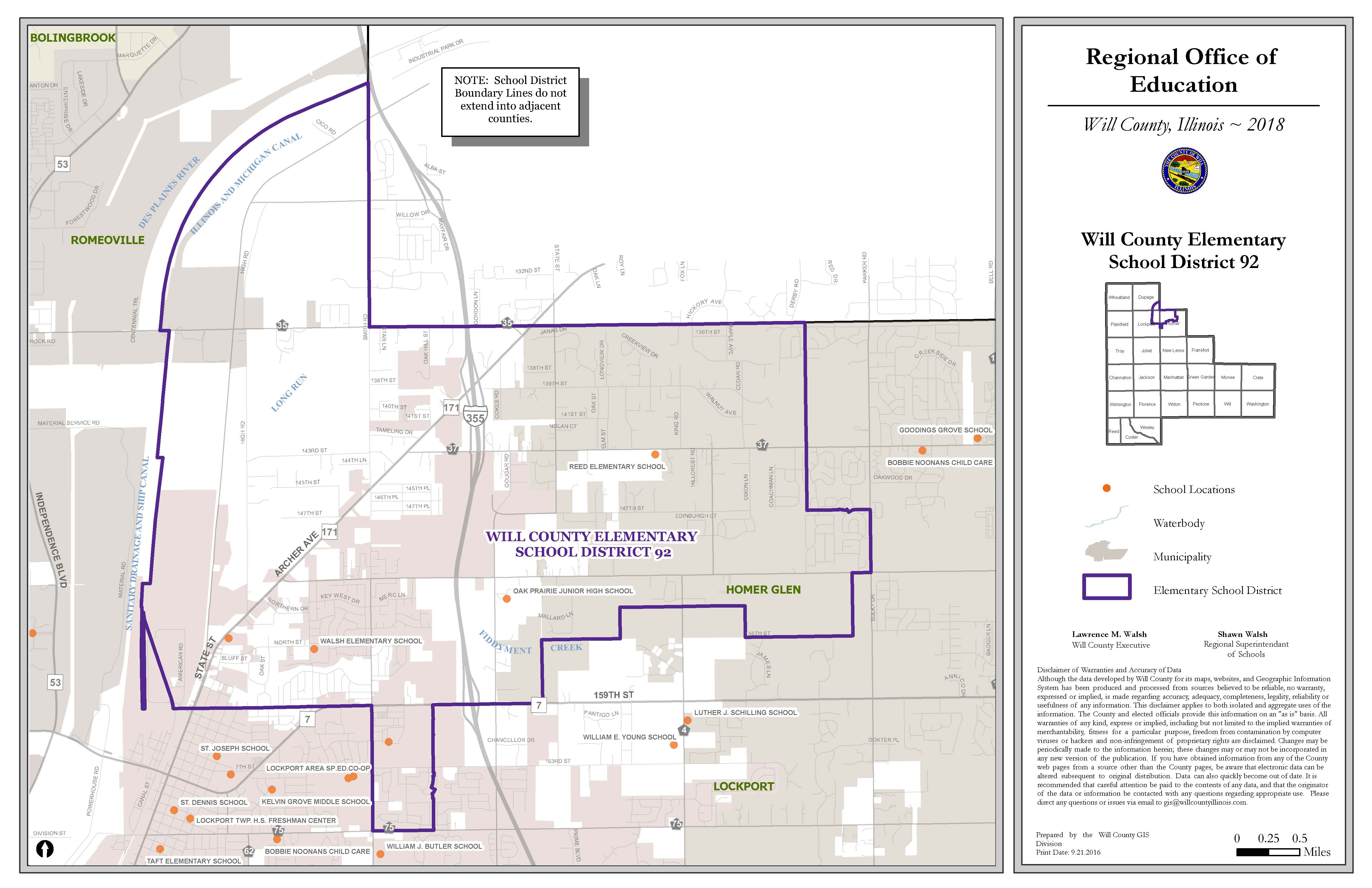 Will County School Districts map