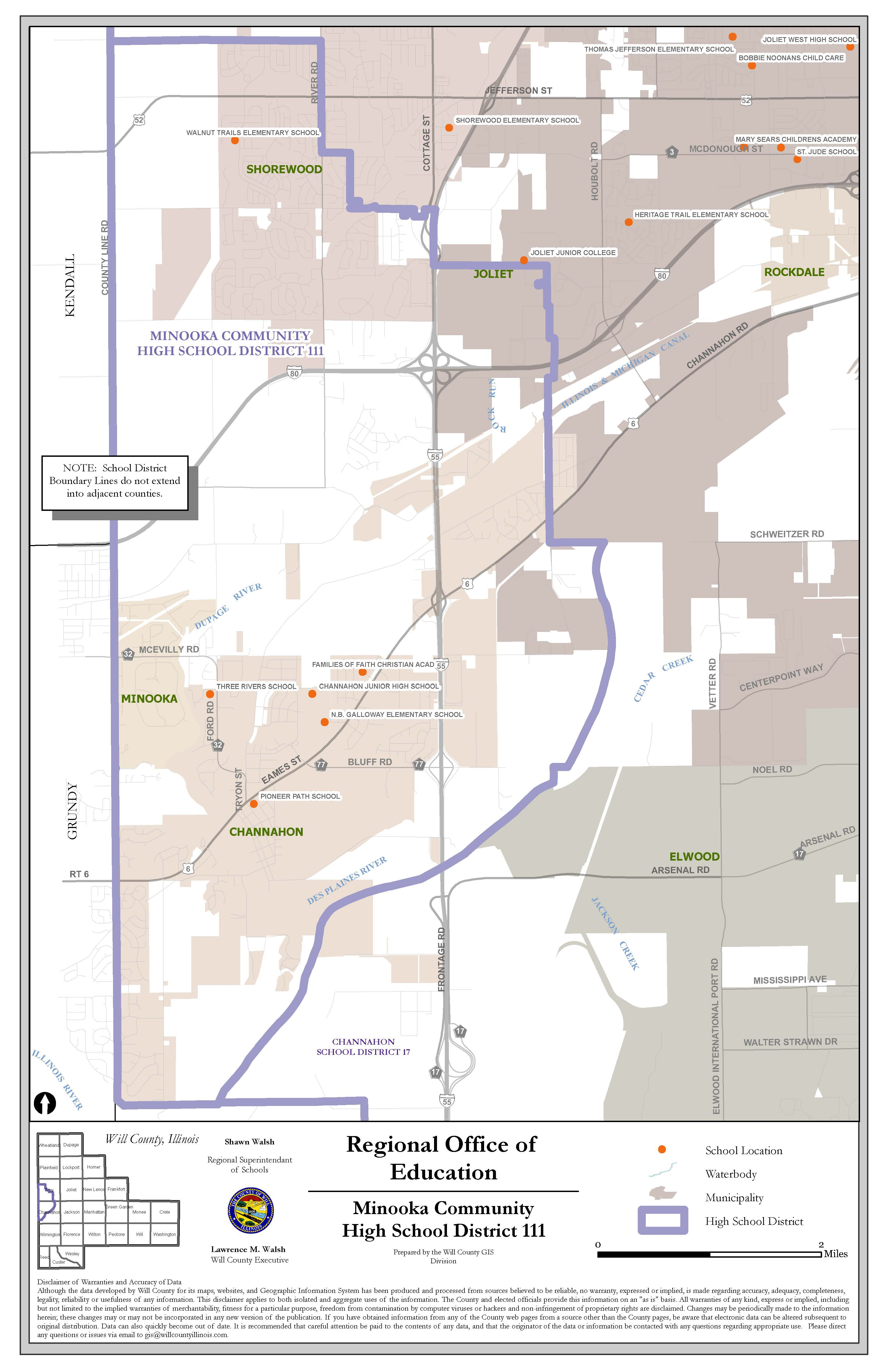 Minooka High School District Map